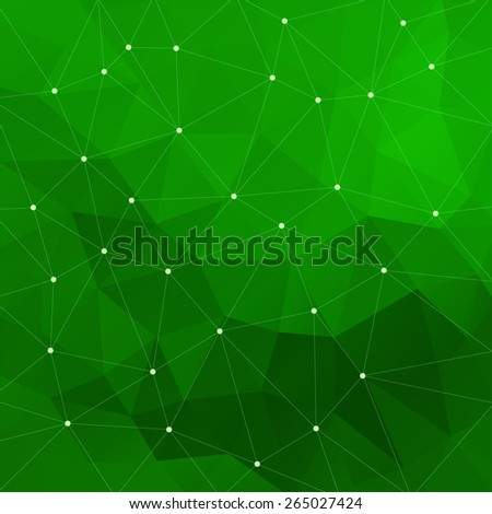 Abstract triangular green background. Vector design EPS10 - stock vector
