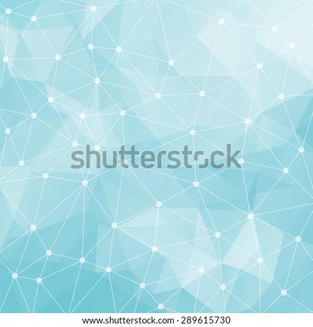 Abstract triangular light blue background. Vector design EPS10 - stock vector