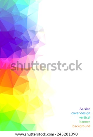 Abstract triangular & polygonal colorful background with geometric abstract shapes - stock vector