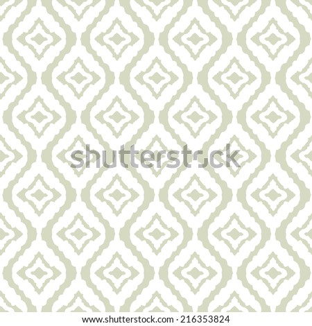 Abstract tribal art ethnic seamless pattern. Ikat. Folk repeating background texture. Geometric print. Fabric design. Wallpaper - vector - stock vector