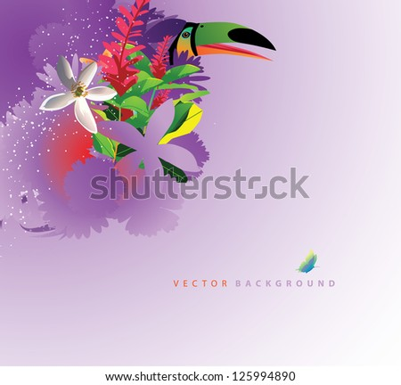 Abstract Tropical Background EPS 8 vector, no open shapes or paths. - stock vector