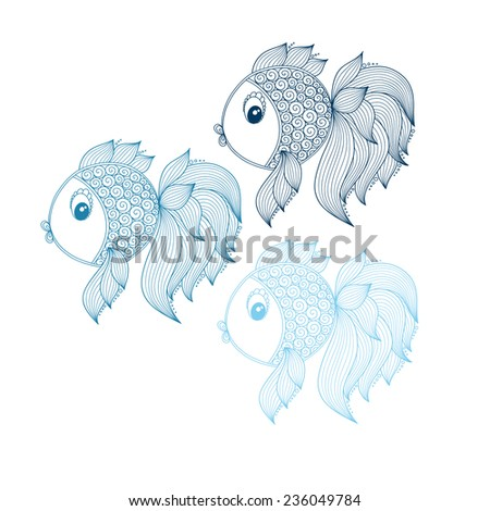 Abstract Tropical Fish