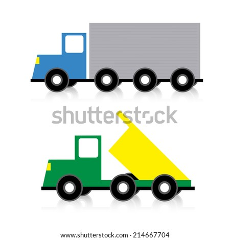 abstract trucks toy on a white background