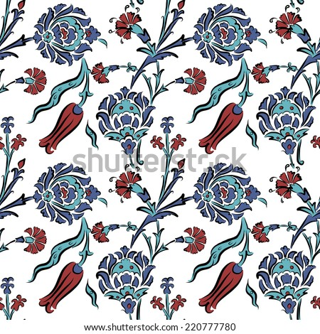 Abstract turkish pattern for your design - stock vector