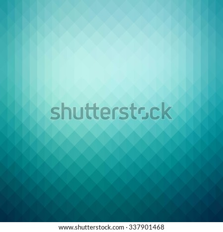 Abstract turquoise green background with soft shiny tones and geometric shapes - stock vector
