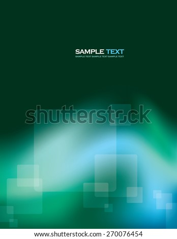 Abstract Turquoise Vector Background With Transparent Squares. - stock vector