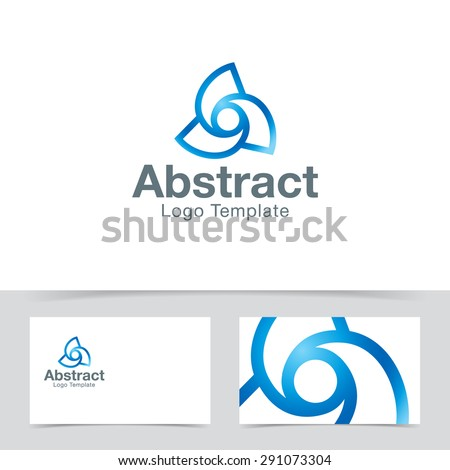 Abstract twisted logo template. Corporate branding identity - stock vector
