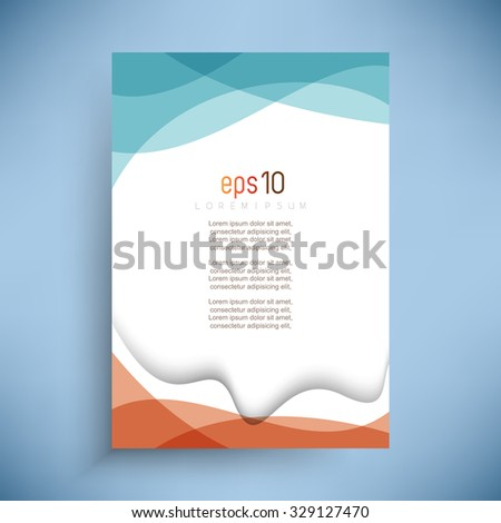 abstract two color wave elements business vector design - stock vector