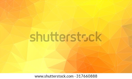 Abstract Two-dimensional   yellow triangle  background for web design - stock vector