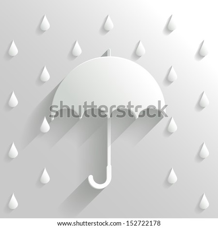 Abstract Umbrella on White Background - stock vector