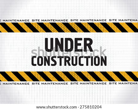 abstract under construction background vector illustration - stock vector