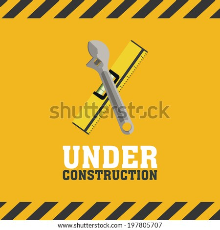 abstract under construction background with special objects