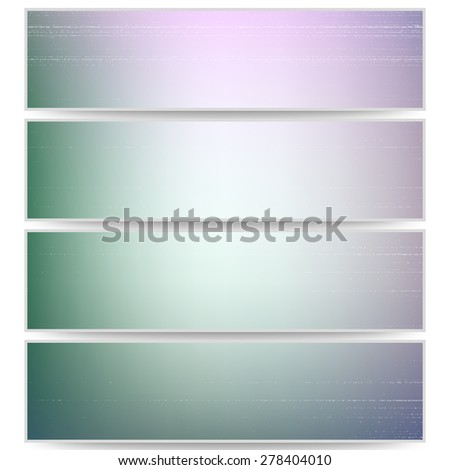 Abstract unfocused headers, blurred design vector.