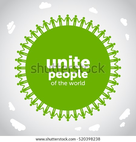 Abstract Unity symbol. Unite people of the world.