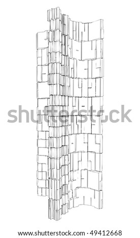 Abstract Urban City Building Vector 122