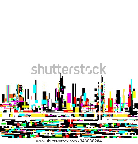 abstract urban design, computer technology background, vector illustration