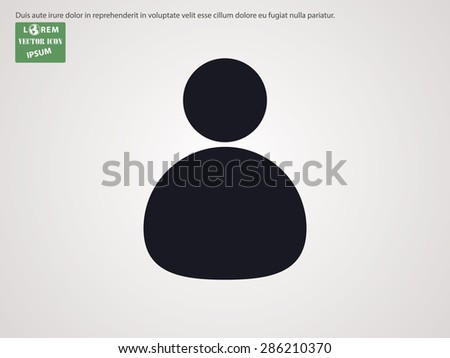 Abstract user icon - stock vector