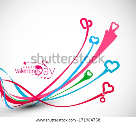 Abstract Valentine's Day Background, Vector Illustration.  - stock vector