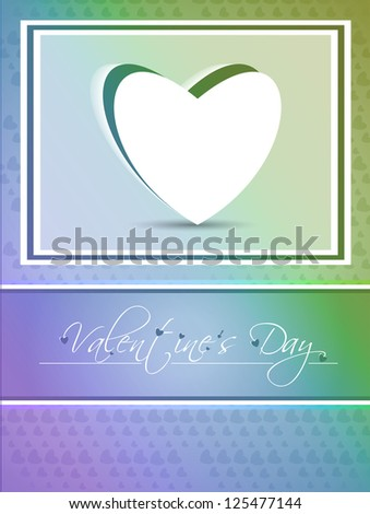 Abstract valentine's day background with hearts, eps10