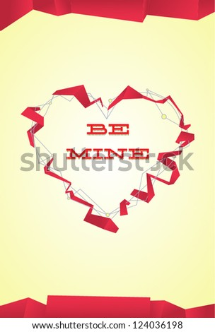 Abstract valentine's day heart for cards, gifts; vector illustration. - stock vector