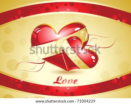 Abstract Valentine Wallpaper Vector Illustration