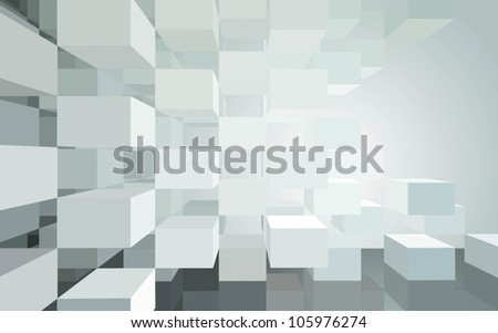 Abstract vector architecture - stock vector