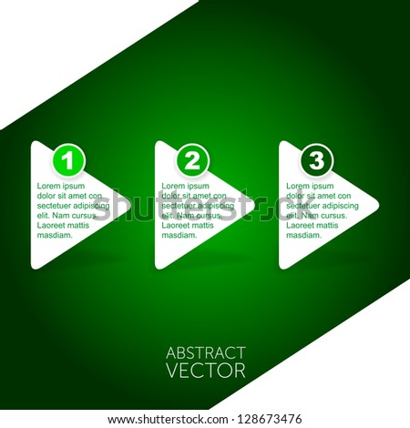 Abstract vector arrows