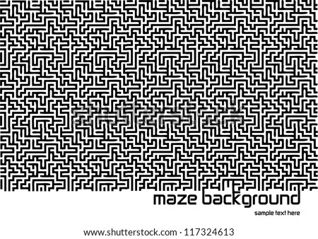 abstract vector backdrop design with maze texture and place for your text isolated on white background