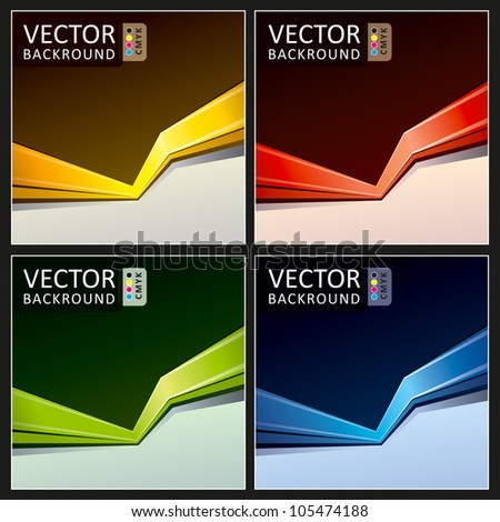 Abstract Vector Background Action Collection - stock vector