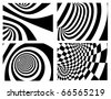 Abstract vector background - black and white - stock photo
