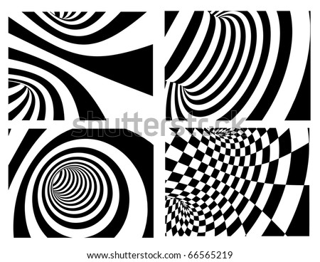 Abstract vector background - black and white - stock vector