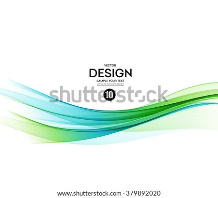 Abstract vector background, blue and green waved lines for brochure, website, flyer design.  illustration eps10 - stock vector