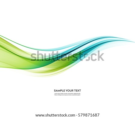 Abstract vector background, blue and green waved lines for brochure, website, flyer design. Transparent smooth wave.