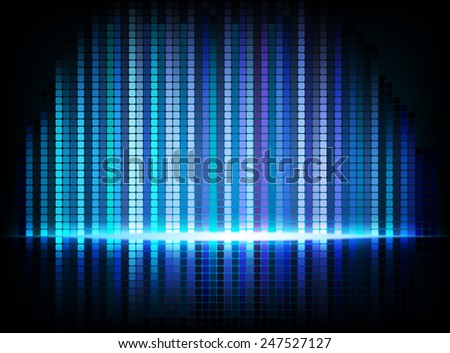 Abstract vector background - blue and purple rays