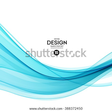 Abstract vector background, blue transparent waved lines for brochure, website, flyer design.  Blue smoke wave. Blue wavy background. Blue wave. Smoke wave blue. Transparent blue wave.Vector blue wave - stock vector