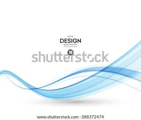 Abstract vector background, blue transparent waved lines for brochure, website, flyer design.  Blue smoke wave. Blue wavy background.  - stock vector