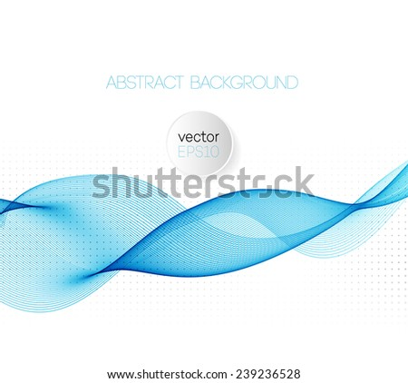 Abstract vector background. Blue wave - stock vector
