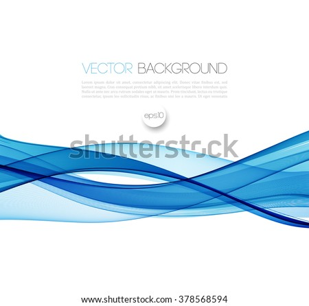 Abstract vector background, blue waved lines for brochure, website, flyer design.  illustration eps10 - stock vector