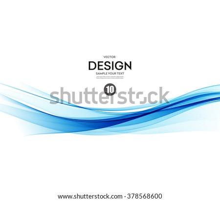Abstract vector background, blue waved lines for brochure, website, flyer design.  illustration eps10 - stock vector