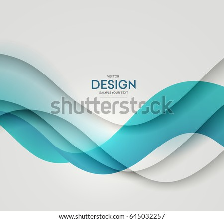 Abstract vector background, blue waved lines for brochure, website, flyer design. Transparent water wave. Science or technology design