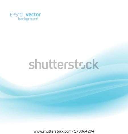 Abstract vector background, blue wavy vector illustration  - stock vector