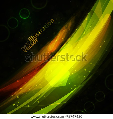 Abstract vector background, bright space, futuristic illustration eps10 - stock vector