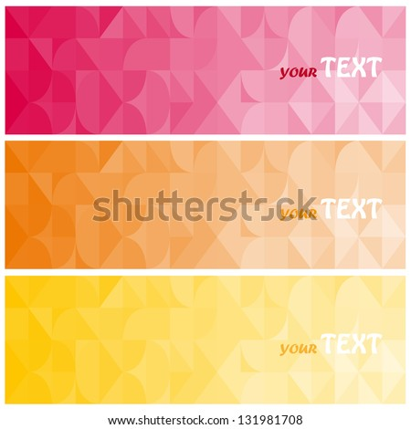 Abstract vector background brochure template. Set of abstract cards - stock vector