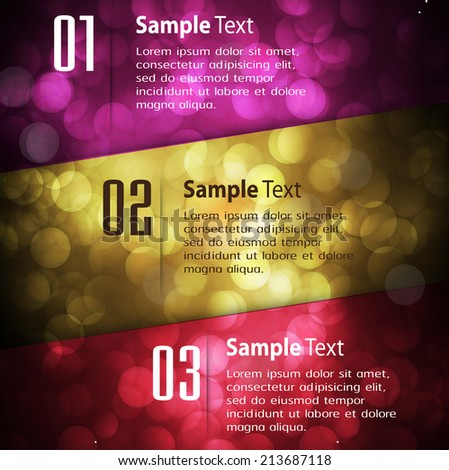 Abstract vector background, colorful lights elements. text box. - stock vector