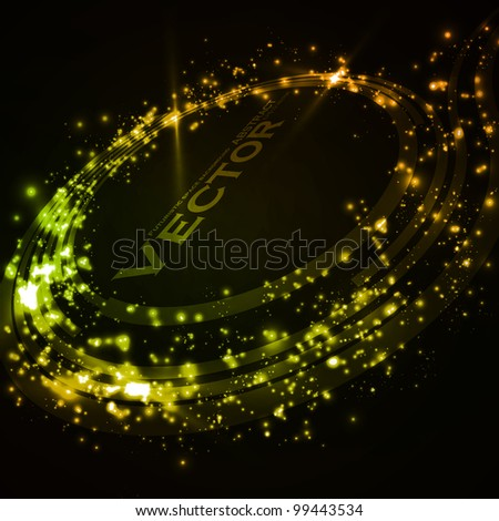 Abstract vector background. Creative dynamic element, shiny space illustration eps10 - stock vector