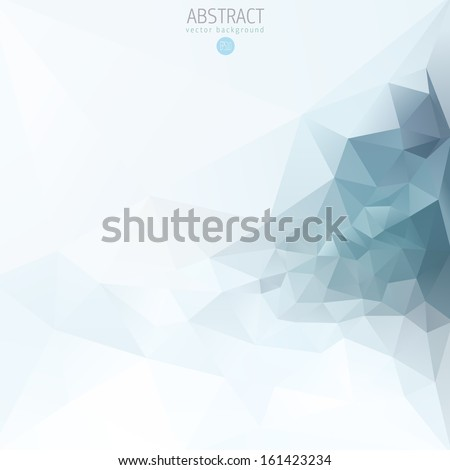 Abstract vector background design template with triangles  - stock vector