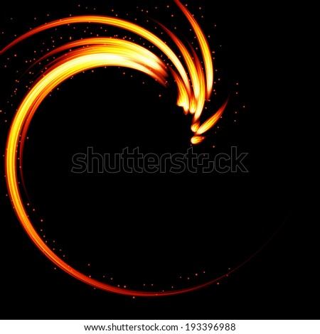 Abstract vector background-fire shape. - stock vector