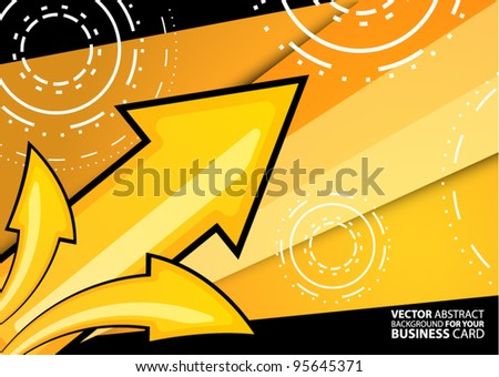 Abstract vector background for your business card - stock vector