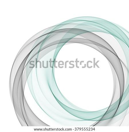 Abstract vector background, fractal wavy illustration. Circle shape. Circle lines. Blue gray circles. Transparent circle. Vector circle. Abstract wave circles. Circle frame. Circle abstract.  - stock vector
