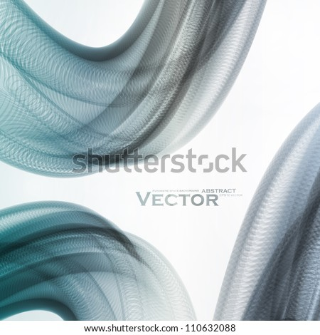 Abstract vector background, futuristic colorful wavy illustration eps10